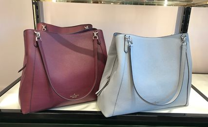 kate spade new york A4 Plain Leather Totes