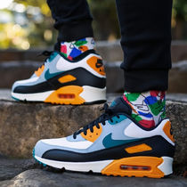 Nike AIR MAX 90 Blended Fabrics Street Style Plain PVC Clothing Dad Sneakers