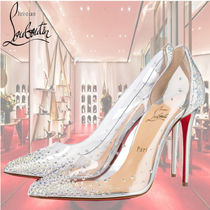 Christian Louboutin Studded Pin Heels Party Style PVC Clothing Elegant Style