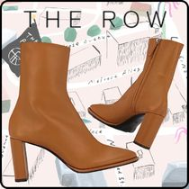 The Row Platform Round Toe Leather Ankle & Booties Boots