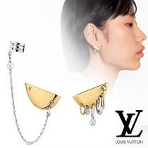 Louis Vuitton Casual Style Chain Silver With Jewels Elegant Style