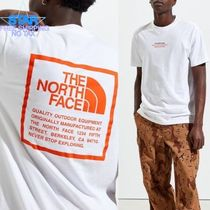 THE NORTH FACE Crew Neck Pullovers Unisex Plain Cotton Short Sleeves