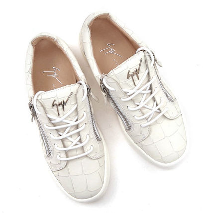 Leather Logo Low-Top Sneakers