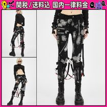 DOLLS KILL Casual Style Cotton Long Skinny Pants