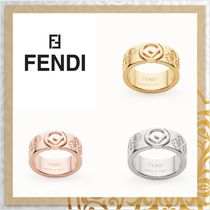 FENDI F IS FENDI Costume Jewelry Unisex Party Style Brass Elegant Style Rings