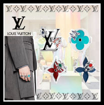 Louis Vuitton Flower Patterns Unisex Street Style Rings