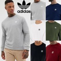 adidas Crew Neck Sweat Street Style Long Sleeves Plain Sweatshirts