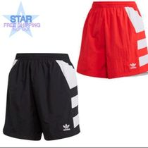 adidas Short Casual Style Street Style Cotton Denim & Cotton Shorts