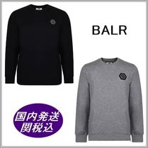 BALR Crew Neck Long Sleeves Plain Sweatshirts