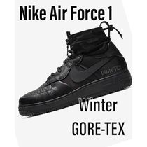 Nike AIR FORCE 1 Plain Toe Mountain Boots Unisex Street Style Plain