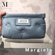 Maison Martin Margiela Casual Style Calfskin 2WAY Chain Plain Party Style Clutches