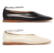 Jil Sander Bi-color Plain Leather Ballet Shoes