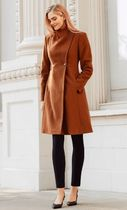 Calvin Klein Plain Long Office Style Elegant Style Formal Style  Coats