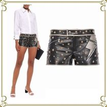RED VALENTINO Short Star Casual Style Leather