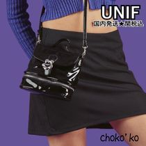UNIF Clothing Casual Style Plain Shoulder Bags
