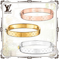 Louis Vuitton Monogram Infini Bangles Casual Style Unisex Street Style Party Style Silver