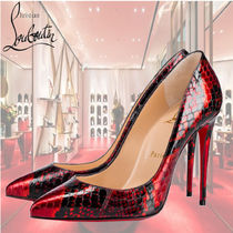 Christian Louboutin Pigalle Follies Other Animal Patterns Pin Heels Party Style Python