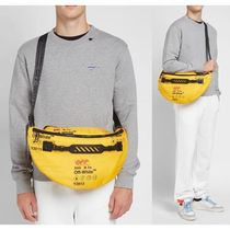 Off-White Stripes Unisex Street Style Bags