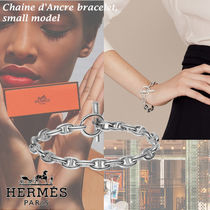 HERMES Chaine dAncre Unisex Party Style Silver Elegant Style Formal Style