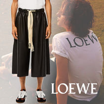 LOEWE Plain Leather Cropped Pants