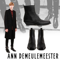 Ann Demeulemeester Street Style Plain Leather U Tips Boots