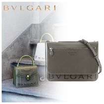 Bvlgari Casual Style Unisex Calfskin Elegant Style Shoulder Bags