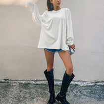 Platform Lace-up Casual Style Faux Fur Street Style
