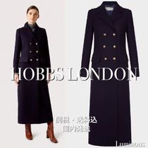 Hobbs London Wool Plain Long Office Style Elegant Style Peacoats