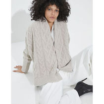 BRUNELLO CUCINELLI Cable Knit Casual Style Cashmere Silk Blended Fabrics