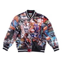 Mitchell&Ness Unisex Nylon Street Style Collaboration Oversized