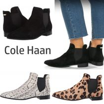 Cole Haan Leopard Patterns Casual Style Spawn Skin Plain Chelsea Boots