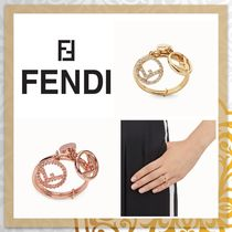 FENDI F IS FENDI Costume Jewelry Party Style Elegant Style Rings