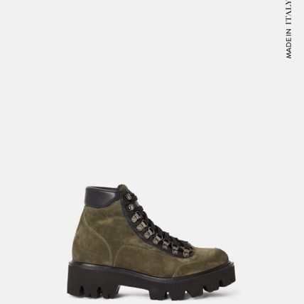 minelli Cowboy Boots Square Toe Platform Mountain Boots Casual Style