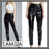 I.AM.GIA Casual Style Faux Fur Street Style Plain Medium