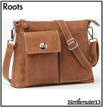 Roots Casual Style Unisex Plain Leather Crossbody Shoulder Bags