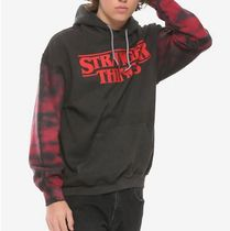 Hot Topic Pullovers Unisex Long Sleeves Plain Cotton Hoodies