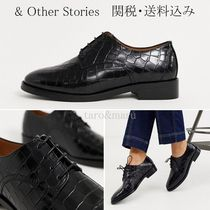& Other Stories Round Toe Casual Style Other Animal Patterns Leather