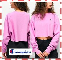 CHAMPION Short Street Style Long Sleeves Plain Cropped