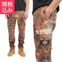 STONE ISLAND Tapered Pants Camouflage Street Style Cotton Tapered Pants