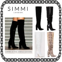 SIMMI Casual Style Suede Street Style Plain Other Animal Patterns