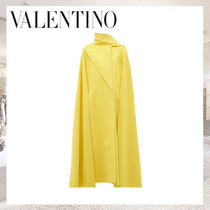 VALENTINO Wool Plain Long Ponchos & Capes