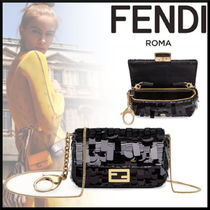 FENDI Lambskin Street Style Party Style Party Bags