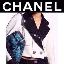 CHANEL MATELASSE Casual Style Denim Blended Fabrics Street Style 2WAY Chain