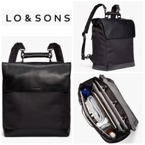 Lo & Sons Casual Style Unisex A4 Plain Office Style Backpacks
