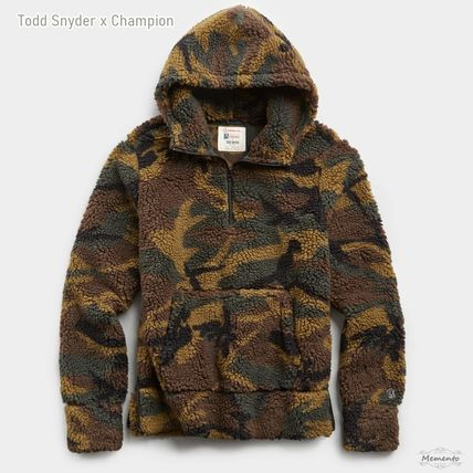 Pullovers Camouflage Unisex Street Style Collaboration