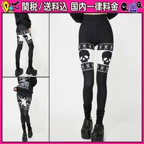 DOLLS KILL Skull Plain Leggings Pants