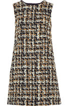 Dolce & Gabbana Short Other Plaid Patterns Casual Style Tweed Sleeveless