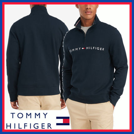 Tommy Hilfiger Low Gauge Street Style Long Sleeves Cotton Logo