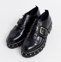 ASOS Casual Style Studded Leather Chunky Heels