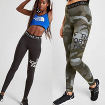 THE NORTH FACE Camouflage Blended Fabrics Street Style Leggings Pants